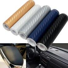 5 цветов, 10 см x 127 см, 3D тонированная виниловая пленка для автомобиля, наклейка DIY из углеродного волокна, клейкая пленка в рулоне, автомобильный Стайлинг для интерьера, экстерьера