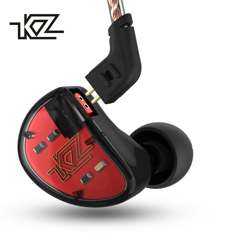 KZ AS10 Headphones Ten Unit 5BA Balanced Armature Driver In Ear Monitor Sport Headset Noise Cancelling Earbuds HIFI Earphones kz as10 headphones 5ba balanced armature driver hifi bass earphones in ear monitor sport headset noise cancelling earbuds