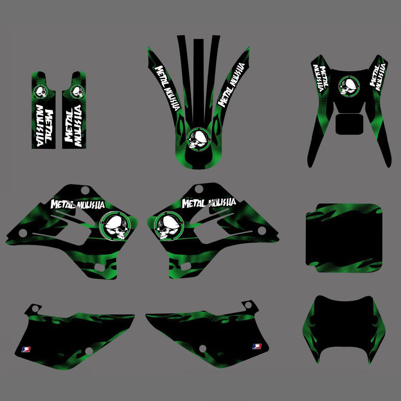 Motorcycle New Style Graphics Background Decal Sticker Kit For Kawasaki KDX200 KDX220 KDX 200 220 1995 1996 1997 1998 1999-2008