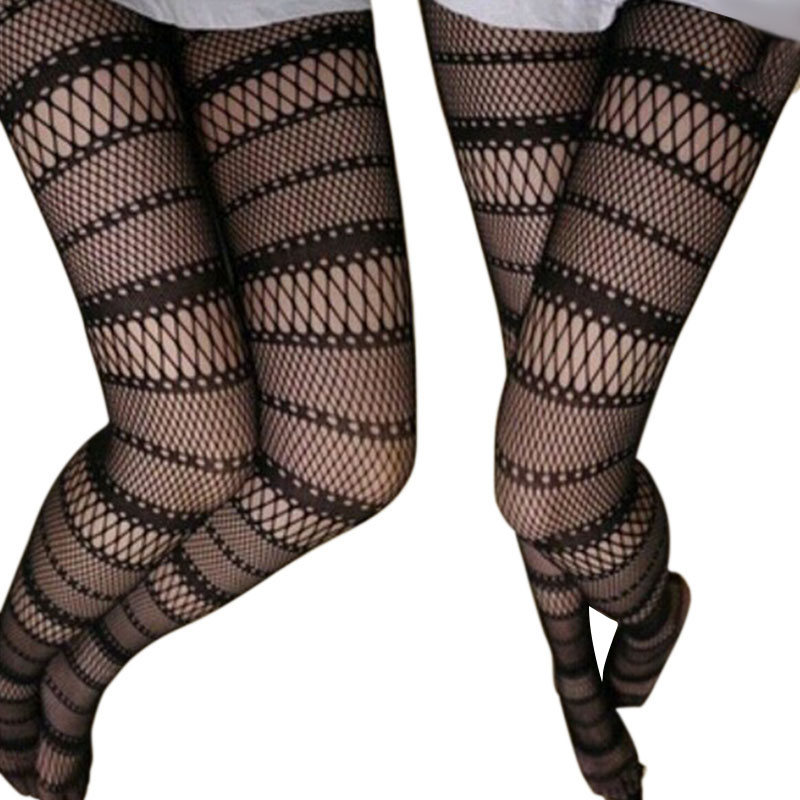 New Arrival Sexy Womens Black Fishnet Pattern Jacquard Stockings Pantyhose Tights Drop