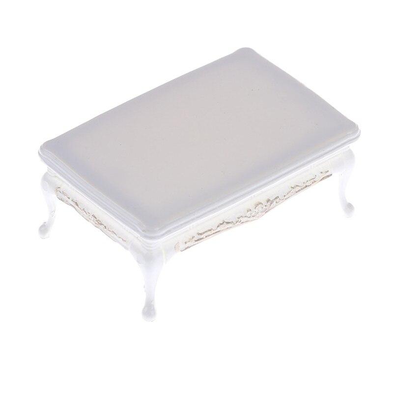 Blanc bricolage meubles Miniatures café thé Tables à manger pour Mini Miniatures meubles jouets cadeaux pour enfants adulte maison de poupée