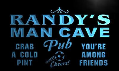 x0078-tm Randys Man Cave Pub Custom Personalized Name Neon Sign Wholesale Dropshipping On/Off Switch 7 Colors DHL