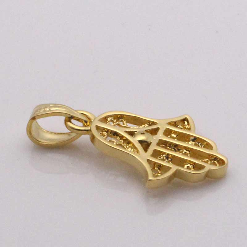 zkd  islam Muslim hamsa hand of fatima pendant & necklace