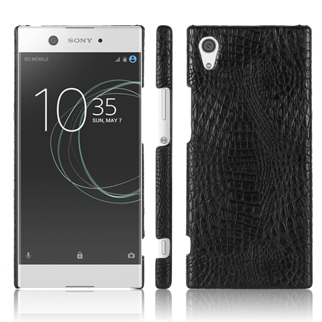 new york 182a0 9513c US $2.51 40% OFF| Case For Sony Xperia XA1 G3121 G3112 G3123 Luxury  Crocodile Skin Protective Back Cover Phone Cases for Sony Xperia XA1  Ultra-in ...