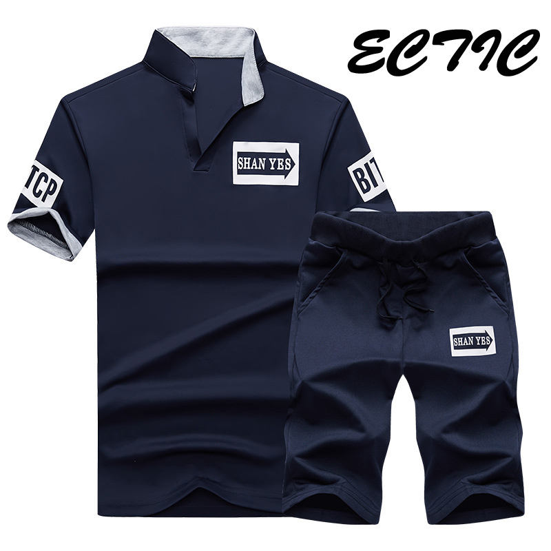 2018 Brand Sportsuits Men Set Polo Suits Summer 2PC Top Short Mens Stand Collar Sportswear  2 Pieces T-shirt Shorts Tracksuit2018 Brand Sportsuits Men Set Polo Suits Summer 2PC Top Short Mens Stand Collar Sportswear  2 Pieces T-shirt Shorts Tracksuit