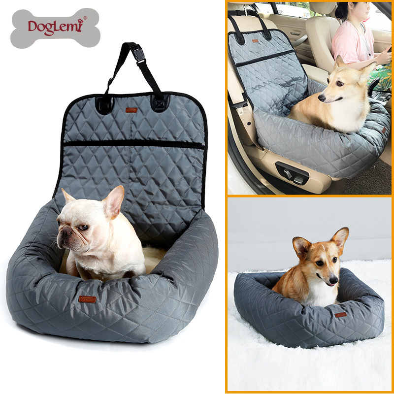 DogLemi Dog Supplies Dog Carriers Bags Funtional Pet Booster Bed Deluxe Dog Pet Car Seat Cover Bed&Lounge Drop shipping JUN6