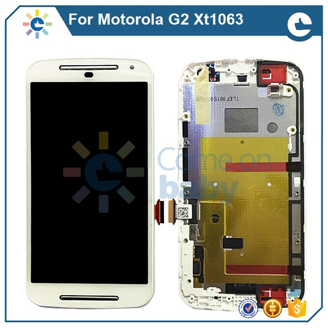 US $19 57 11% OFF|New Quality For Motorola g2 LCD Display Touch Screen  Digitizer Assembly+Frame For MOTO G2 XT1063 XT1068 Free shipping-in Mobile