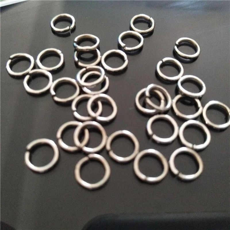 Frete grátis Banhado A Prata Abertas Ir Anéis De Aço barato 6mm Jóias Acessórios vendidos 100 pçs/lote P005 de Jóias Por Atacado