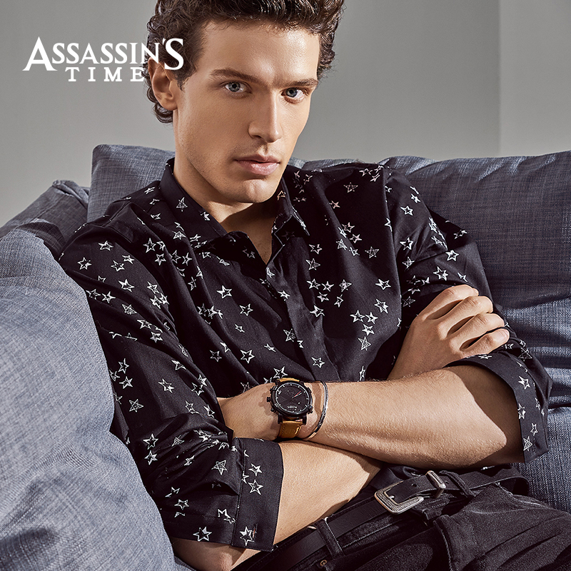 Assassins Time Brand Watch Men Quartz Male Watches Äkta Läder Rem - Herrklockor - Foto 4