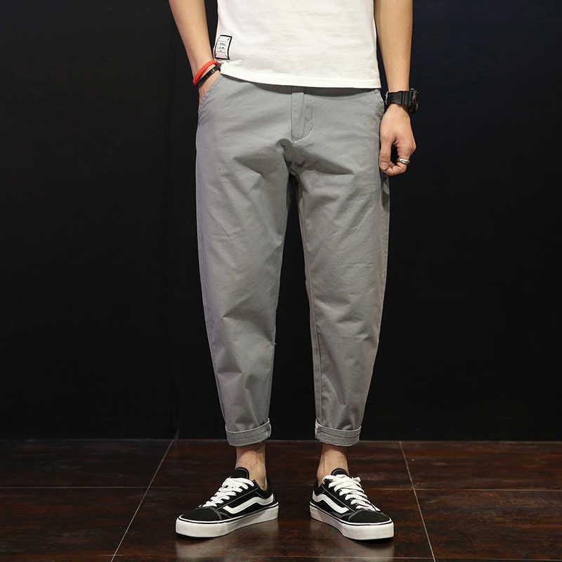 Брендовые мужские штаны шаровары, штаны для бега 2018 новые мужские брюки для бега хип-хоп хаки однотонные брюки больших размеров 42