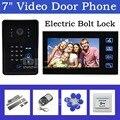 DIYSEUCR Electric Bolt Lock 7 Inch Video Door Phone Intercom System + Remote Control IR Keypad RFID Reader Waterproof Camera