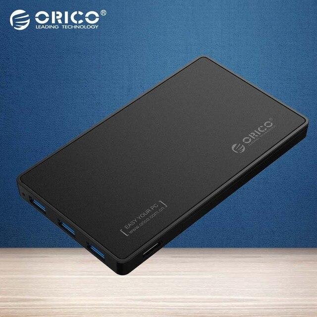2.5 Caja de DISCO DURO ORICO USB 3.0 caja de Disco Duro con 3 puertos USB $ number HUB de Diseño Libre de la Herramienta el Conductor No Se Requiere con 5V2A poder