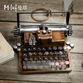 Planar resin typewriter home decoration accessories printer vintage home decor Retro Craft window prop Bar Home Furnishing