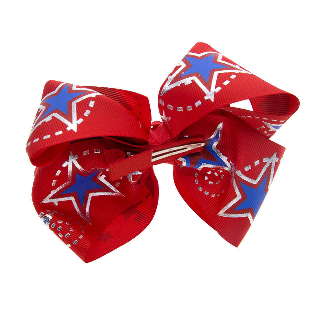 4th of July Hair Bow USA Bows Independence Day Bow America Red White & Blue Bows American Flag Patriotic Bows BB025S