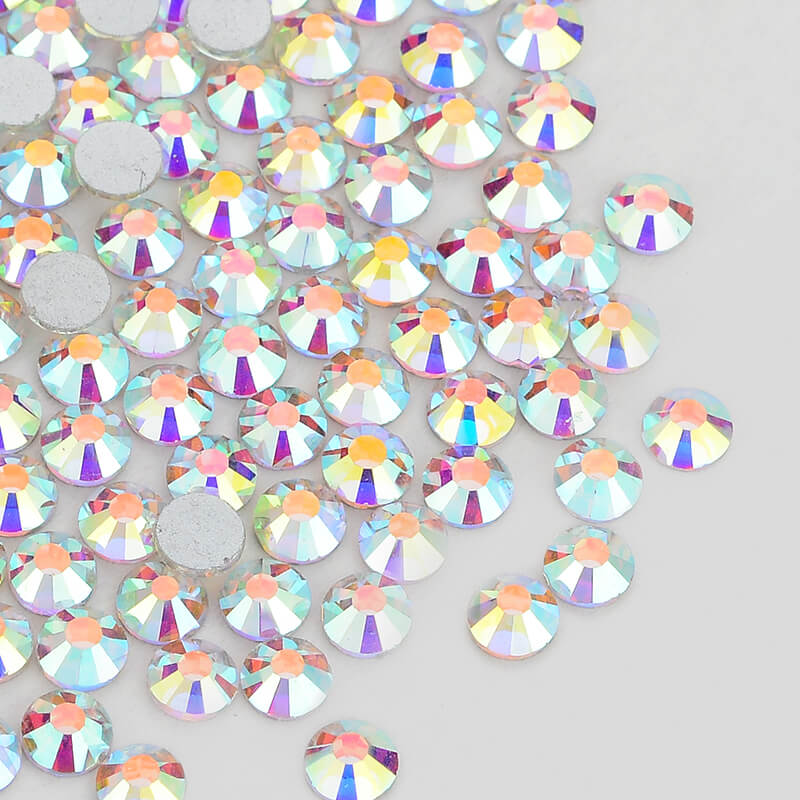 Clear Crystal AB FlatBack Glass Rhinestones Non HotFix for Nail Art Decorations in Rhinestones from Home Garden