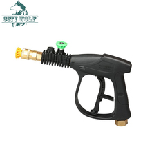 high pressure washer spray water gun with 2 PCS metal nozzle car wash shop accessory city wolf cleaning tool