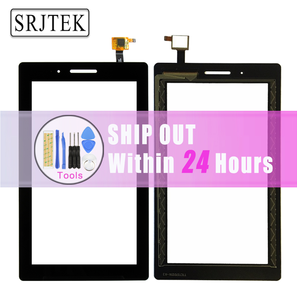 Srjtek For Lenovo TAB 3 Essential 710F Tab-3710F TB3-710F Touch Screen Digitizer Sensor Outer Glass Replacement Parts Black srjtek 10 1 for lenovo tab 2 a10 70 a10 70f a10 70l touch screen digitizer panel sensor outer glass tablet pc replacement parts