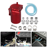 Round Aluminum Oil Tank Alloy Breathable Oil Catch Can Reservoir Fuel Tank Universal 4 Colors
