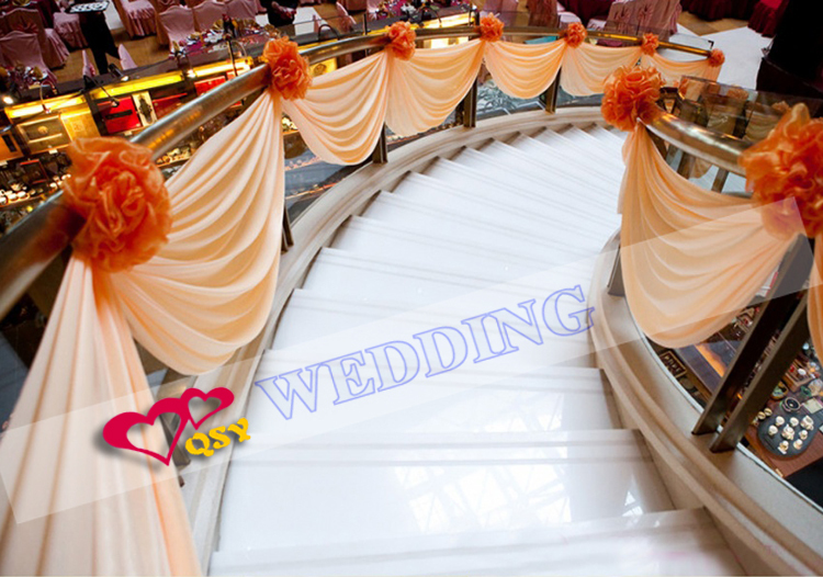 Romantic wedding decoration wedding stair adornment wedding fabric romantic wedding decoration wedding stair adornment wedding fabric backdrop party curtain decoration fabric drape in party diy decorations from home junglespirit Gallery