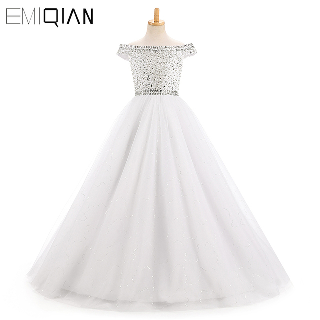 Beautiful Cap Sleeve Kids Formal Wedding Party Dress Puffy Gown Sparkly  Bead Sequin Toddler Ball Gowns 3c7f83fdf5f1