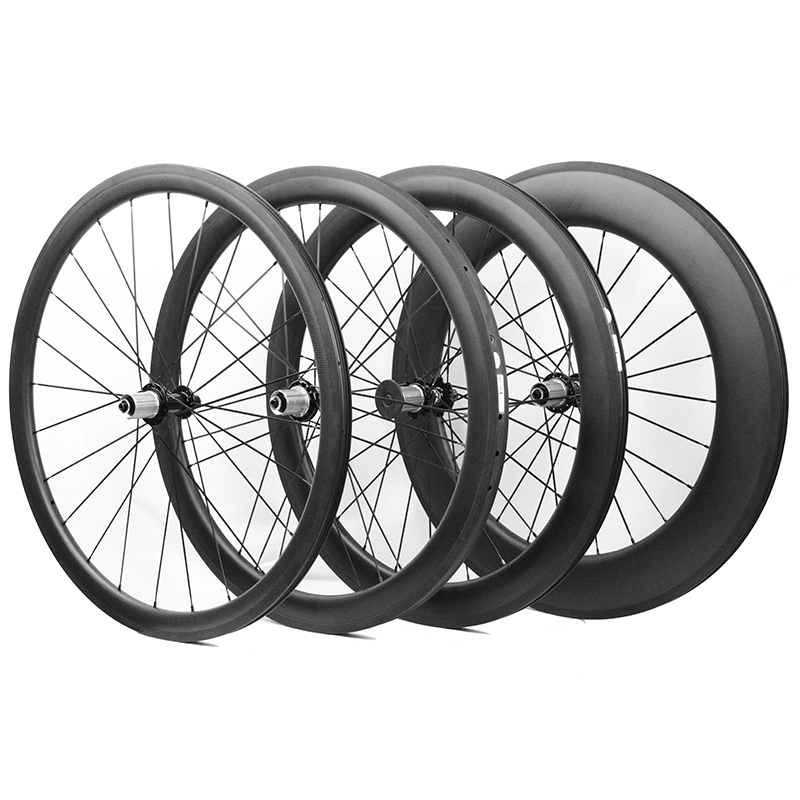 700C 38mm 50mm 60mm 88mm Depth Tubular Clincher Carbon Wheelset Racing Bicycle Road Bike Cycling Carbon Wheels China Bike Wheel купить