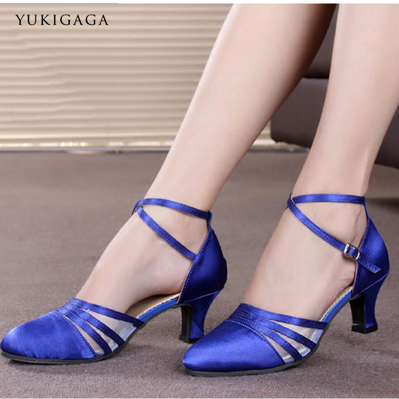 L8c High Cost Performanc Ballroom Dance Shoes Sneakers Latin Dance Shoes Woman Import Satin  Soft Oxfords Bottom Wear-resisting