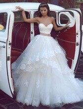 Ball Gown Wedding Dress Lebanese Style Wedding Gowns Sweetheart Tulle Vestido De Novia 2017 With Appliqued KS46