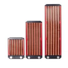 120/240/360 мм полный Медь компьютерный радиатор красный плавник Медь воды-доска Холодный ряд
