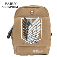 NEW Quality Cartoon Schoolbag Shoulder Bag Attack On Titan Backpack For Free Shipping