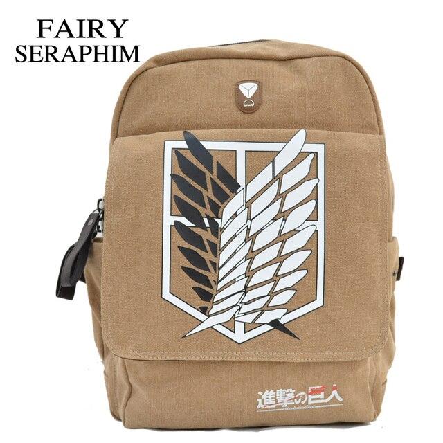 4616963a5f5e Фея Серафим атака на Титанов рюкзаки одежда высшего качества прямые продажи  школьный портфель с анимэ Mochila