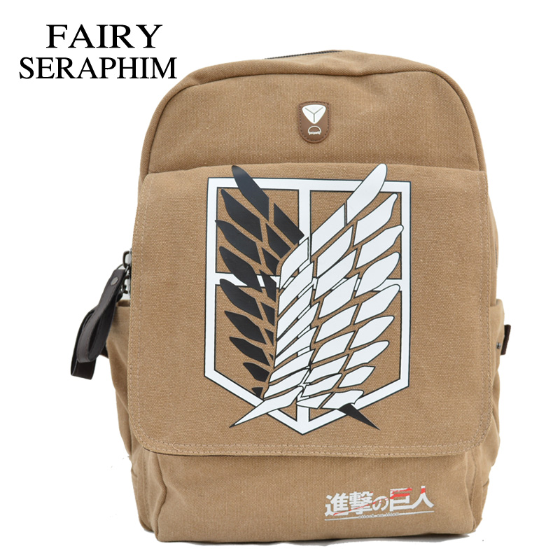 FAIRY SERAPHIM Attack On Titan Backpacks Top Quality Direct Selling Anime Schoolbag Mochila Backpack attack on titan freedom wings emblem printing korean japanese style school backpack anime backpacks ab197