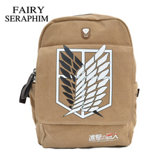 FAIRY SERAPHIM  Attack On Titan Backpacks Top Quality Direct Selling Anime Schoolbag Mochila Backpack
