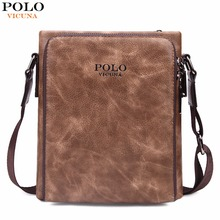 VICUNA POLO Famous Brand Retro Symmetrical Business Man Bags Vintage Italy Leather Men Messenger Bag Quality Men's Leather Bag