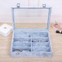 8 Slots Eyeglass Organizer Sunglass Storage Box Imitation Glasses Display Case Storage Organizer Collector