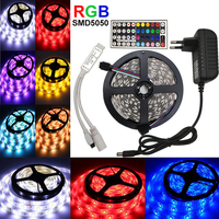 10M 15M 20M 5050 RGB Led Strip Light 60leds M SMD Strip 44 Key Ir Remote