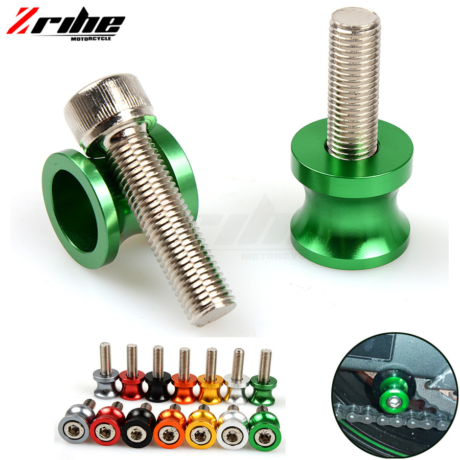 For 2017 Motorcycle New 6mm-10mm CNC Swingarm Slider Spools stand screws For Kawasaki ZX-6/ZZR600 ZX9R ZXR400 ZZR Z750S ER-5 ZR 10mm motorcycle cnc swingarm spools stand screws slider for kawasaki z750 z750r z250 ninja 250 300 z1000 1000 versys