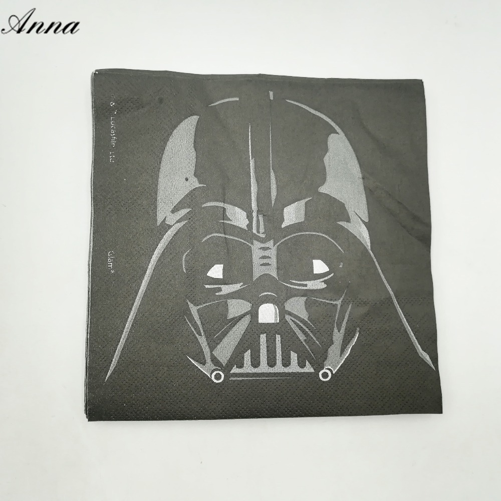 20pc/bag cute cartoon star war party supplies paper napkin Birthday Party Decoration and star war party supplies for boys