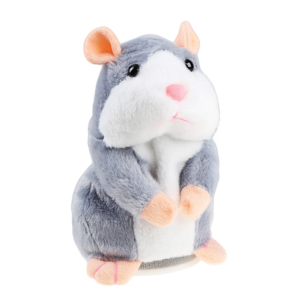 Dropshipping Lovely Talking Hamster Plush Toy Cute Speak Talking Sound Record Hamster Kids Gifts Christmas Gifts for Children