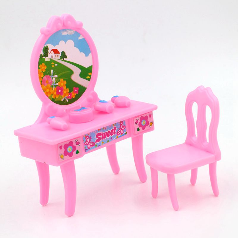 New 3 Styles Fancy Doll Dresser Table Kids S Toy Makeup Chair Desk Play House Bedroom Furniture Accessories Set In Dolls From Toys