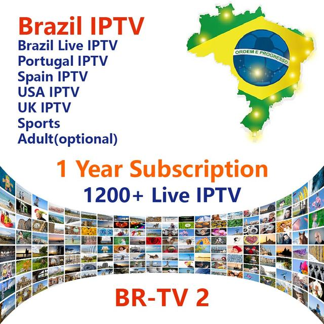 US $34 9 26% OFF|Brazil IPTV 1 year subscription by Android APK 1200 Live  IPTV for Brazil Portugal Spain USA UK Sports Adult Brazil Live IPTV-in