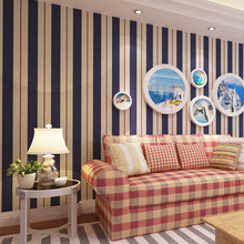 boys and girls children's room bedroom Non-woven stripeswallpaper roll papel de parede 3D wallpaper for wall papers home decor environmental protection non woven wallpaper children s room cartoon color lovely dot wall paper 3d boys and girls bedroom decor