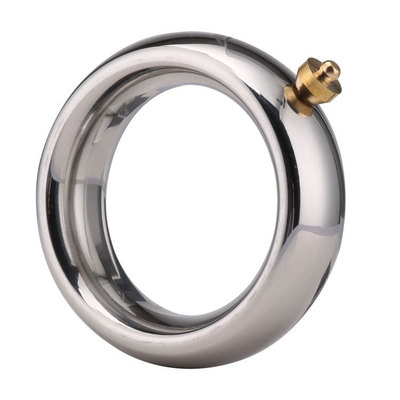 Male Electric Shock Cock Ring, Metal Penis Rings Scrotum Stretcher Electro Stimulation Accessory For DIY Electro Shock Sex Toys
