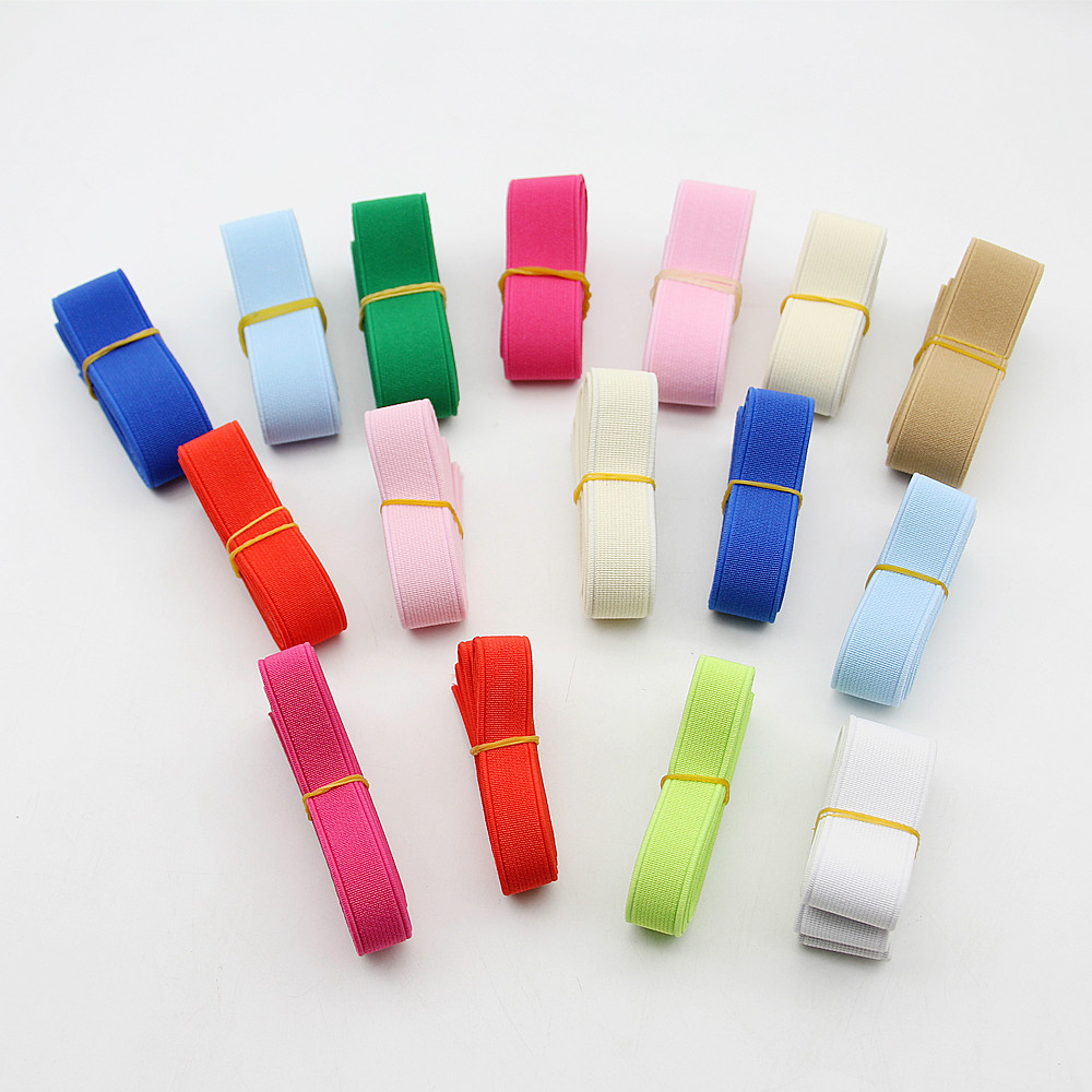 1 Meter 15/20/<font><b>25mm</b></font> Colorful <font><b>Elastic</b></font> Band Spendex Nylon Webbing Garment Trousers Dress Lace Trim DIY Clothing Sewing Accessories image