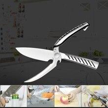 Stainless Steel Kitchen Poultry Chicken Bone scissor Cutter Cook Gadget shear Fish Duck cut Kitchen Scissors with Safety Lock