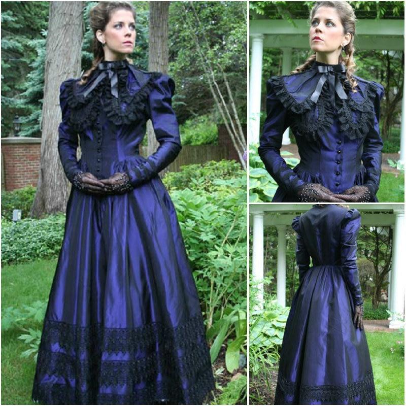 EN VENTE! Robe gothique robe de guerre civile robe victorienne deguisement US6-26 XS-6XL