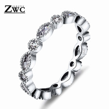 ZWC, лидер продаж, простое модное изысканное кольцо с инкрустацией кристаллами для женщин и мужчин, романтическое кольцо с цирконием для свадебной вечеринки, ювелирное изделие, подарок