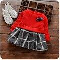 newness birthday party baby clothing for girl brand girls plaid infant girls dresses red white christening infantil vestidos