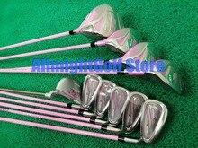 Kobiet kluby golfowe Maruman RZ Golf kompletny zestaw kierowca + tor wodny drewno + żelazka + miotacz grafitowy Golf wał z Headcover