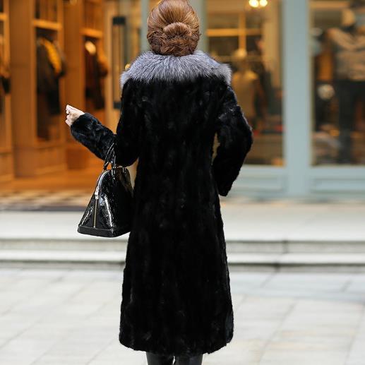 La Femme Plus Vestes 5xl Hiver Taille Manteaux Vintage G775 Furry En Femmes Fourrure Survêtement 2018 Épaissir Long Fausse 6xl WeD2H9IEY