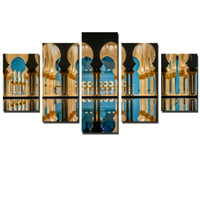 5Pcs Famous Islamic Building Canvas Art Paintings HD Wall Pictures Home Decor Wall Arts For Living
